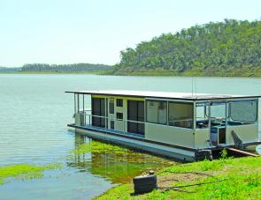 Enjoy fishing from a houseboat first thing in the morning until late into the evening.