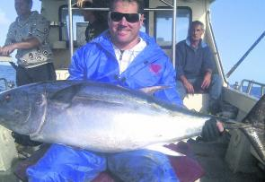 Josh fished with Topcat Charters for this cracking bluefin tuna.