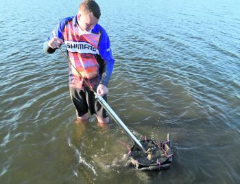 A bait pump, a sieve and bit of local knowledge are all you need to collect fresh bait.