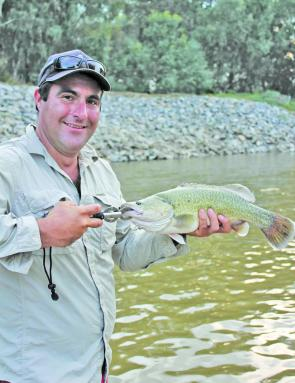 Michael Knack, of Wagga, caught this Murray cod in Old Man Creek. Even in Winter the smaller fish tend to stay active in this waterway.