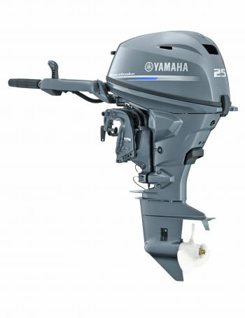 Not only is the Yamaha F25 lighter than its predecessor, but it's only a two-cylinder and has a substantially smaller physical size.