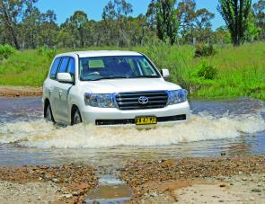 "With 225mm ground clearance and 17"" wheels it's going to take a lot of water to stop this big wagon."