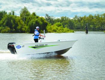 Although the Clark 449 Rebel CC doesn't scream at you with lots of features, the features it does have are very practical. Matched with the Suzuki 50hp four-stroke it would suit a first time boat owner or long time boat user.