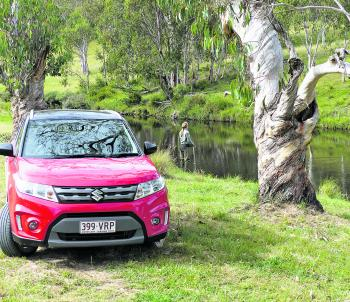 The manual Vitara easily saw the author and his wife enjoying some high country cod fishing.
