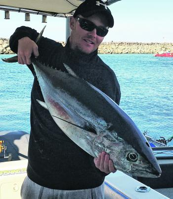 A cracker tuna caught out from Cape Otway.