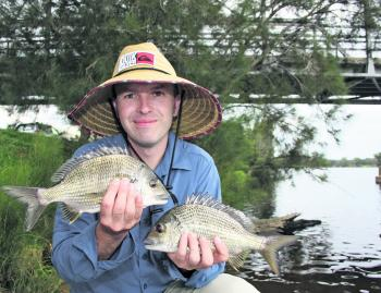Andy Marshall with the type of bream that can be caught in the Tuross River system.