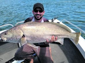 David McKenzie with a healthy river mulloway.