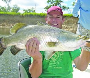 The barra came thick and fast on the Archer River.