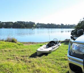 You can always find sheltered water in the Gippy Lakes and a perfect launching place for easy kayak fishing.