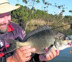 The warmer weather we've had has seen some bigger bream come out and play, like this one caught by the author.