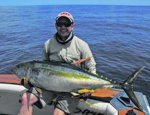 Tony Crowe with a nice yellowfin caught out wide.