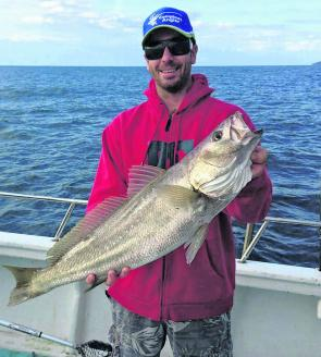 A consistent berley trail attracted this school size mulloway for Jumbo.