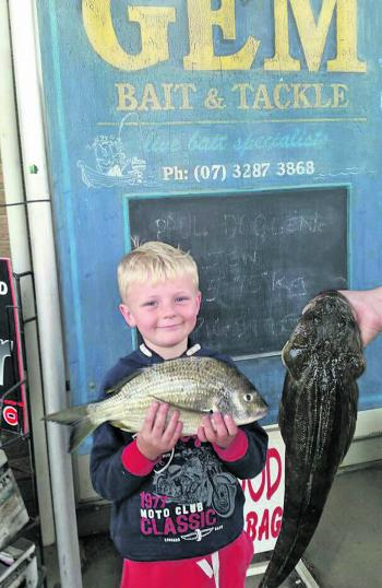 Young Ross Noffke shows off his mixed bag.
