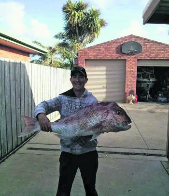 This cracking snapper was caught a while ago off the Lee Breakwater and tipped the scales at a whopping 11kg.