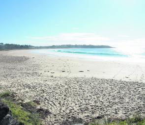 Mollymook Beach at times may look featureless, but don't let that fool you. It can be one of the best beaches in the region.