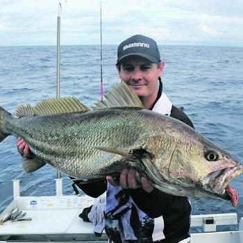 Troy with a great mulloway caught close in to Ballina.