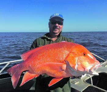 Matt with a beautiful Rainbow Beach red emperor.