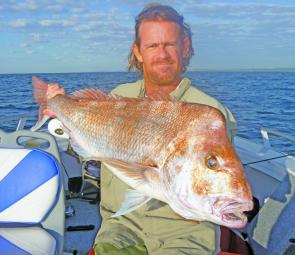 Jason Sheehan with a cracker of a red that nearly nudged 10kgs. There have been many snapper of this quality taken in recent weeks.