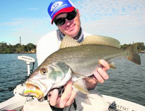 This mulloway was a pleasant surprise for the author on light bream gear. Get over the top of the fish and don't bully it, and the odds can turn in your favour.