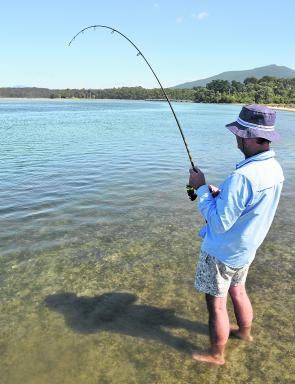 Fishing the shallow water of Wallaga Lake will produce most species, including lovely luderick.