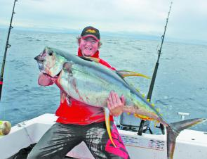 Troy Boulton with a yellowfin from the continental shelf just north of Coffs.