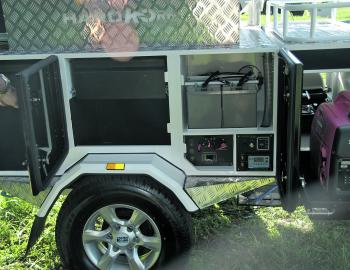 The Bushmaster's electronic control panel was well protected from weather, yet easily accessed by an owner to see how things were going.