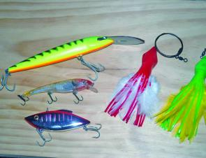 Deep divers, shallow runners and bibless lures make up a good hardbodied selection. The C&H feathers work well too and in the best of keeping-it-simple tradition they are sold pre-rigged.
