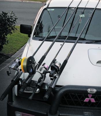 Vehicle fishing rod holder vehicle ideas for Fishing pole holder for car