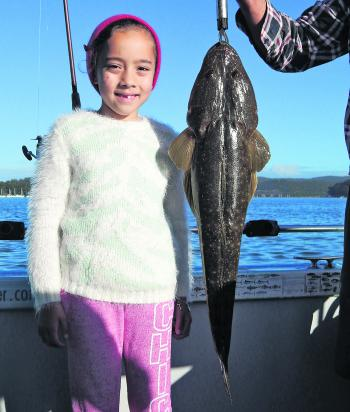 Emma with her first ever fish – and what a first fish it was at 78cm!