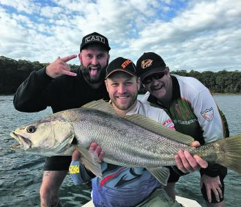 Your first mulloway on plastic is always a challenge, but it's even more rewarding when it nearly hits the metre mark.