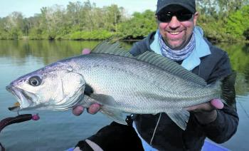 Troy Fotheringham with a whopper mulloway.