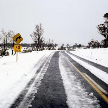 When the roads look like this you need chains or 4WD and you need to drive with great care to get to your fishing spot safely.