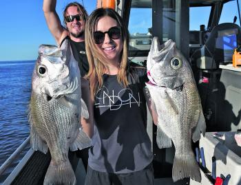 Singer/Songwriter Caitlyn Shadbolt had an epic day bagging out on big pearl perch aboard Keely Rose Fishing Charters.