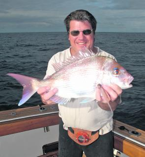 Brad Job with a nice winter snapper. Expect to see catches on the increase now.