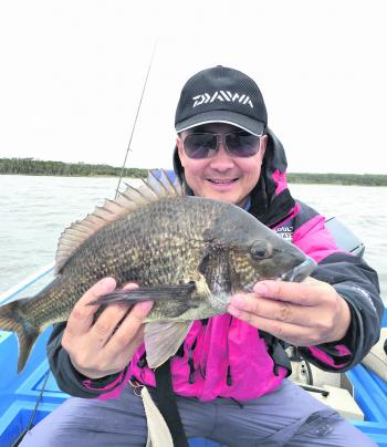 Tan Huynh with a typical Bemm bream.