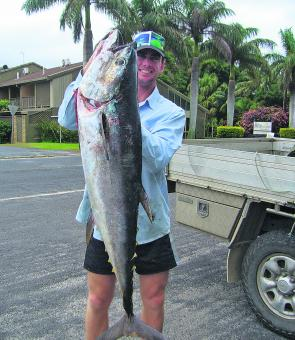 A early season 20kg long tail tuna made the trip down from the goldy worth while for Tom Melville