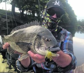 Gez Hawthorne is a big bream magnet, this one took a surface lure off the top.