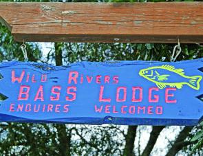 The signs says it all, this is real wild river bass country.