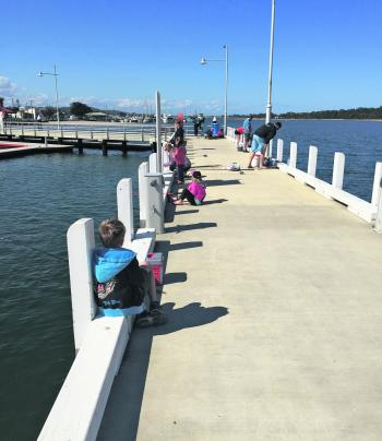 Cunninghame Quay is a popular land-based option to wet a line in Lakes Entrance.