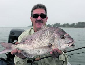 Mick Lee with a great autumn snapper.