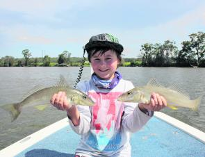 Young Jake had some great fishing at Tuross. He managed these whiting, plus bream and flathead all taken on surface walkers. He released everything he caught.