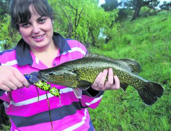 Hayley McDonald with a beautiful Murray cod taken on a recent trip on the Namoi.