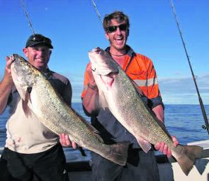 A couple of solid mulloway that swallowed livies out wide.