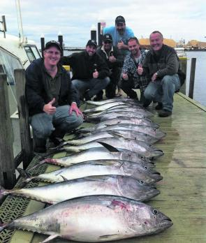 A decent catch of southern bluefin tuna from Red Hot fishing Charters.