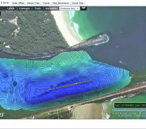This image shows part of the Gold Coast Seaway that I mapped on a recent fishing trip. There are a few spots I missed that I will cover on my next trip.