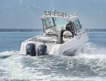 The twin Yamaha four-stroke 130hp setup delivered speeds up to 78km/h and economy of over 1.5km/L at 3750rpm.