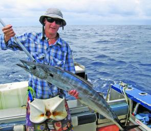 Wahoo have been a good staple in the absence of sailfish and marlin.