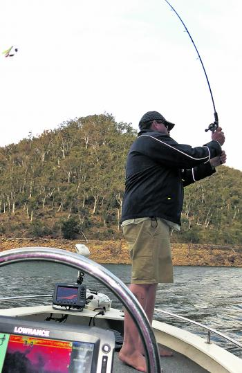 Keep your casting stroke smooth when using a baitcaster.