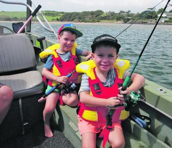 Reily and Lachlan had a trip out in the boat with their dad on the Minnamurra River. Not a lot was caught, but they were wrapped up in their new Shakespeare Ugly Stik Tackleratz outfits.