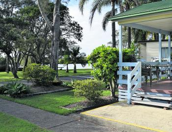 Stuarts Point Holiday Park is one of the best-kept holiday parks the author has stayed in.